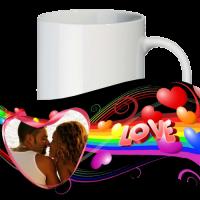 Кружка с рамкой на 1 фото на день влюблённых № a10