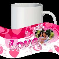 Кружка с рамкой на 1 фото на день влюблённых № a11