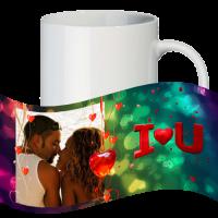 Кружка с рамкой на 1 фото на день влюблённых № a12