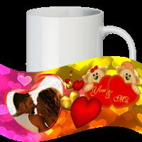 Кружка с рамкой на 1 фото на день влюблённых № a14