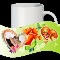 Кружка с рамкой на 1 фото на день влюблённых № a15