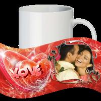 Кружка с рамкой на 1 фото на день влюблённых № a7
