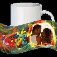 Кружка с рамкой на 1 фото на день влюблённых № a9