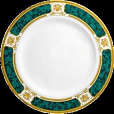 Тарелка с зелёным орнаментом