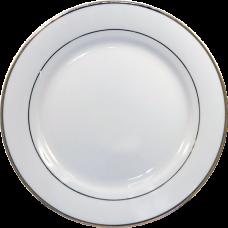 Тарелка с золотой каёмкой