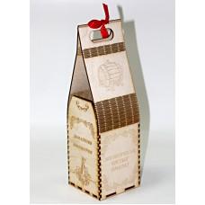 Коробка для бутылки с гравировкой