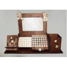 органайзер с календарем, с подставкой под телефон и фоторамкой